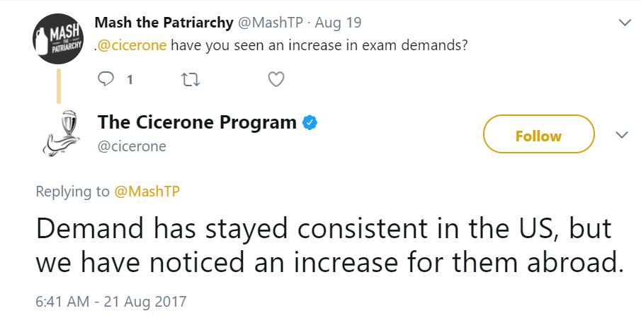 Cicerone Program Tweet